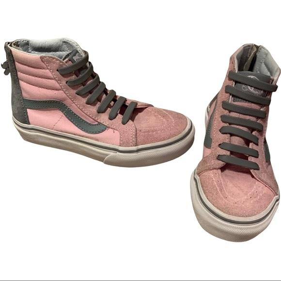 Vans Kids SK-8 Hi Zip Pink/Grey Size 12.5
